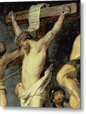 Christ Between The Two Thieves, 1620 Metal Print by Peter Paul Rubens