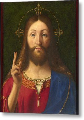 Christ Blessing Metal Print by Andrea Previtali