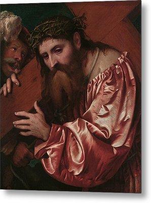Christ Carrying The Cross Metal Print by Girolamo Romanino