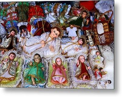 Christ Child Figures For Nativity Scenes Metal Print by James Brunker