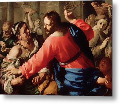 Christ Cleansing The Temple Metal Print by Mountain Dreams