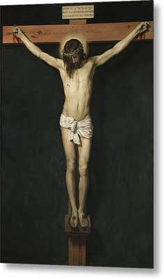 Christ Crucified Metal Print by Diego Rodriguez de Silva Velazquez