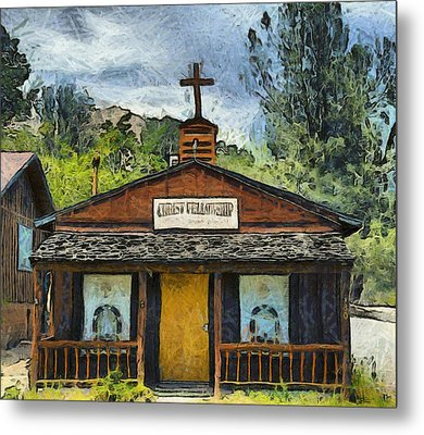 Christ Fellowship Wofford Heights Metal Print by Barbara Snyder