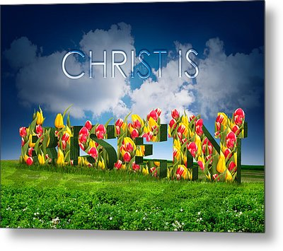 Christ Is Risen Metal Print by Michele Engling