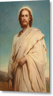 Christ Of The Cornfield Metal Print by Thomas-Francis Dicksee