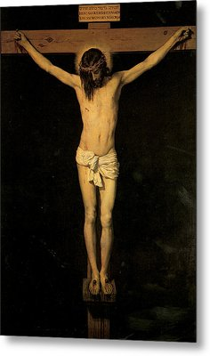 Christ On The Cross Metal Print by Diego Velazquez