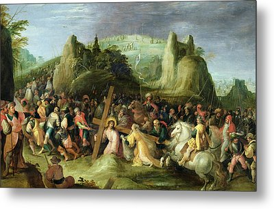 Christ On The Road To Calvary Metal Print by Frans II the Younger Francken