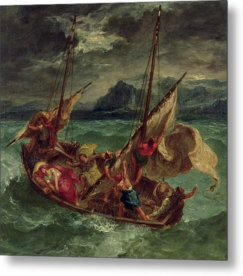 Christ On The Sea Of Galilee Metal Print by Delacroix