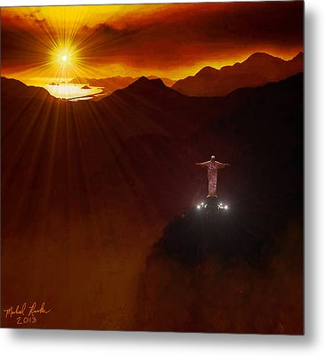 Christ The Redeemer Metal Print by Michael Rucker