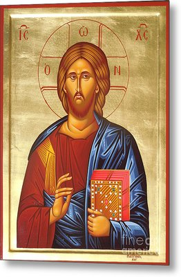 Christ Metal Print by Theodoros Patrinos