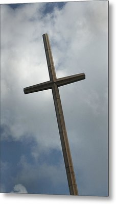 Christian Cross Metal Print by Bob Pardue