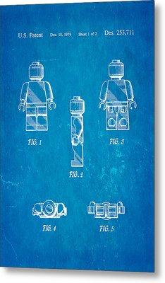Christiansen Lego Figure 2 Patent Art 1979 Blueprint Metal Print