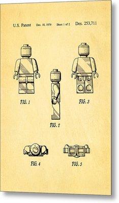Christiansen Lego Figure 2 Patent Art 1979 Metal Print