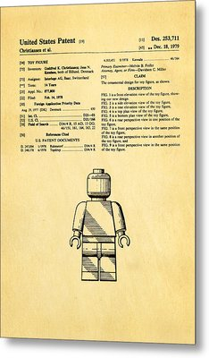 Christiansen Lego Figure Patent Art 1979 Metal Print