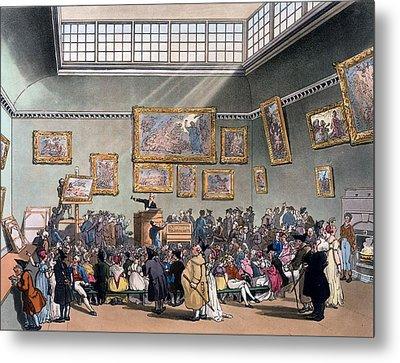 Christies Auction Room, Illustration Metal Print