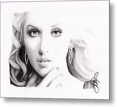 Christina Aguilera 2 Metal Print by Rosalinda Markle