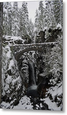 Metal Print featuring the photograph Christine Falls In The Winter by Tikvah's Hope