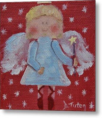 Christmas Angel Metal Print by Donna Tuten