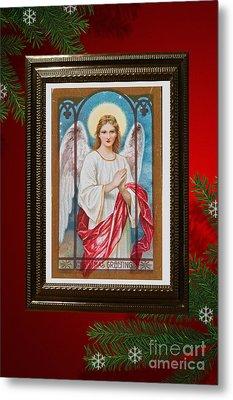 Christmas Angel Art Prints Or Cards Metal Print by Valerie Garner