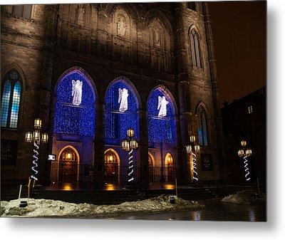 Christmas Angels - Notre-dame De Montreal Basilica Metal Print by Georgia Mizuleva
