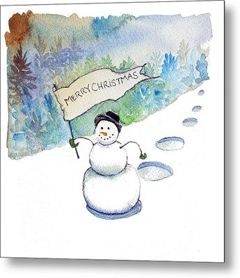 Metal Print featuring the painting Christmas Announcement by Katherine Miller