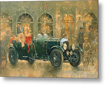 Christmas At Fortnum And Masons Metal Print by Peter Miller