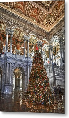 Christmas At The Library Of Congress Metal Print
