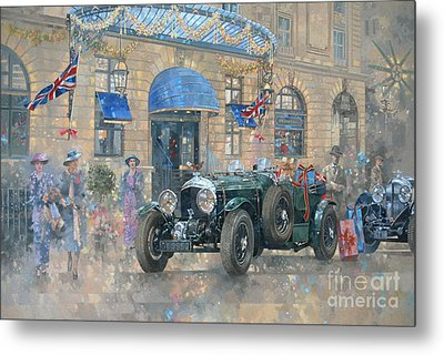 Christmas At The Ritz Metal Print by Peter Miller