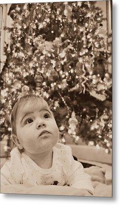 Christmas Baby Metal Print