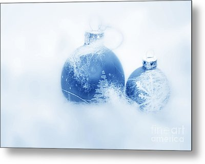 Christmas Balls Decoration Metal Print by Michal Bednarek