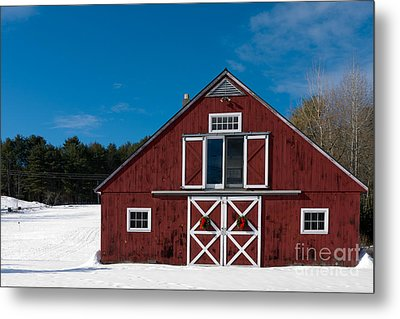 Christmas Barn Metal Print