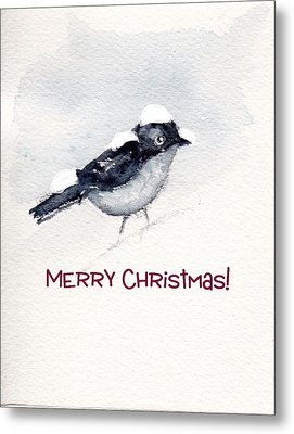 Metal Print featuring the painting Christmas Birds 02 by Anne Duke