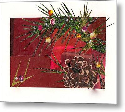 Christmas Branches Metal Print by Robin Birrell