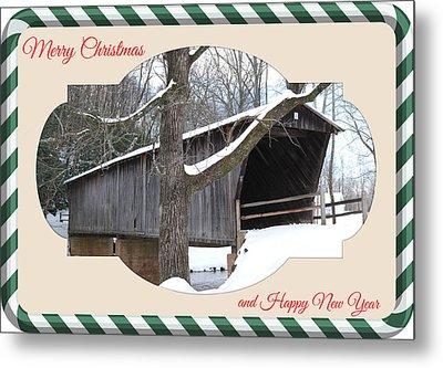Christmas Bridge Metal Print by Eric Liller