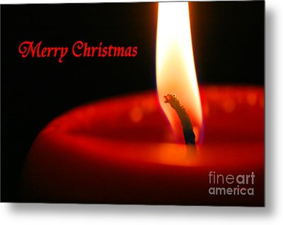 Christmas Candle Metal Print by E B Schmidt