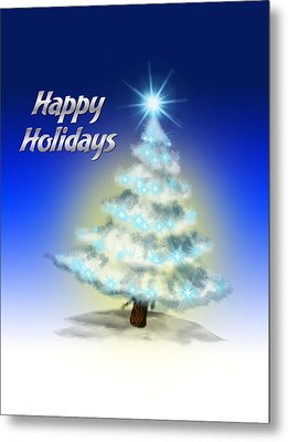 Christmas Card 4 Metal Print by Mark Ashkenazi