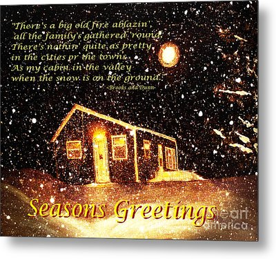 Christmas Card 9 Metal Print by Barbara Griffin
