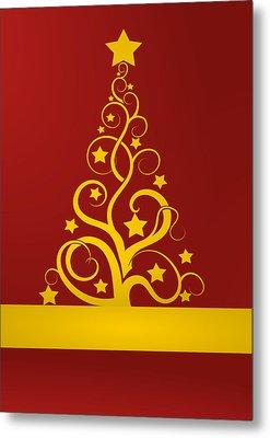 Christmas Card 9 Metal Print by Martin Capek