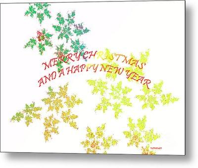 Christmas Card I Metal Print by Tatjana Popovska
