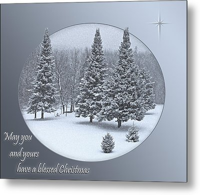 Christmas Card IIi Metal Print by Judy  Johnson