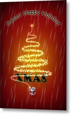 Christmas Card Metal Print by Mark Ashkenazi