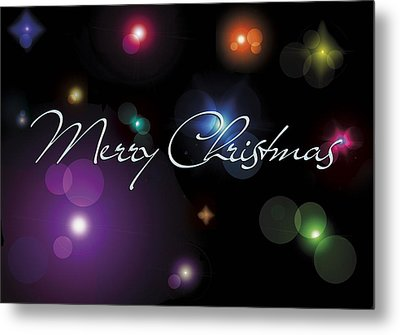 Christmas Card Stars Metal Print