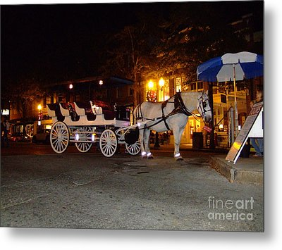 Metal Print featuring the photograph Christmas Carriage by Bob Sample