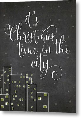 Christmas City Metal Print by Amy Cummings