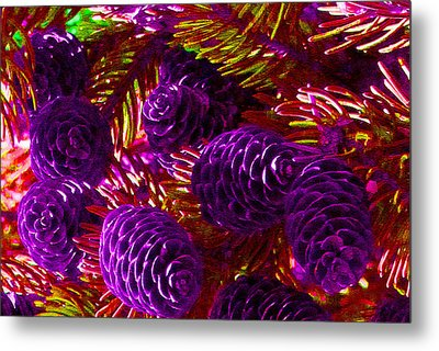 Christmas Cones Metal Print by James Hammen