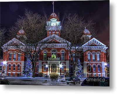 Christmas Courthouse Metal Print