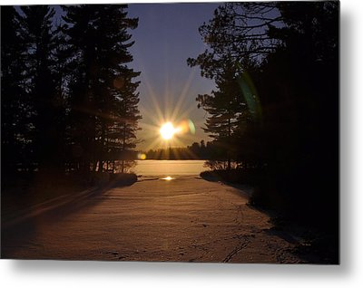 Christmas Day Sunset Metal Print