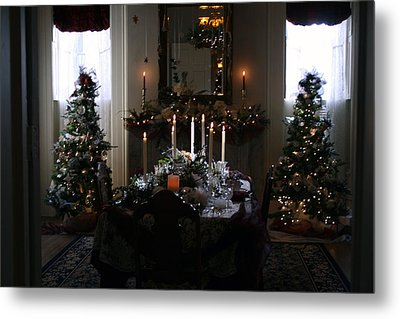 Christmas Dinner At The Mansion Metal Print by Kay Novy