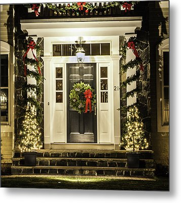 Metal Print featuring the photograph Christmas Door 2 by Betty Denise