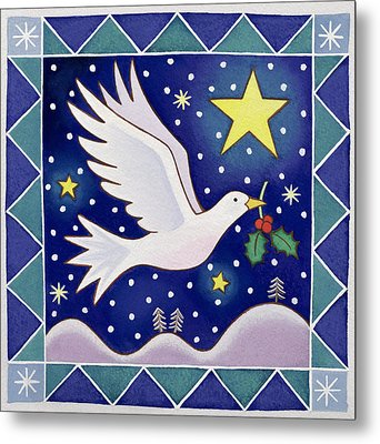 Christmas Dove  Metal Print by Cathy Baxter